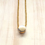 GOLD TINY DOT PENDANT NECKLACE - FREE SHIPPING WORLDWIDE