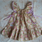 Vintage bouquet twirly dress sz 0 - 4