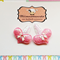 Pair of Baby/Toddler Pink Sequined Heart Snap Clips