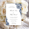 Set of 8 Wedding invitations Navy Blue Vintage lace pattern by Oxee