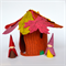 Felt play set - hollow stump gnomes - autumn