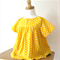 Size 3 Yellow Polka Dot Blouse Button