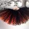 Halloween orange & black polka dot tutu. Size 2-8 (custom made).