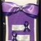 Awareness hair accessories, purple ribbon, hair bow and clips