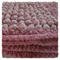 Pink Powder Puff Crochet Baby Blanket