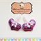 Pair of Baby/Toddler Purple Sequined Heart Snap Clips
