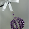 Christmas Bauble of Purple Glass Pearls