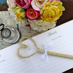 Free Shipping Heart Guest Book Pen
