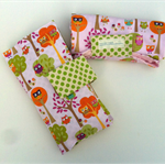 Nappy Diaper Change Mat with Nappy Wallet Pink Owls