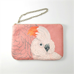 Salmon-crested cockatoo - zipper purse pouch