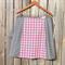 Pink & grey A line panel skirt