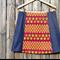 Purple, teapots & denim A line panel skirt