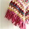 granny stripe poncho   crochet   toddler   bright   1 - 3 years