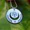names / own message personalised necklace, sterling silver tree of life pendant