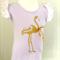 Sz 2~ Flamingo Love, Handprinted Singlet