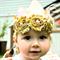 Glitz Fabric Crown Headband - Peach Pink - Gold - Glitter