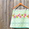 Cross stitch floral print A line skirt