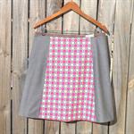 Pink & grey A line skirt