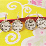 Anne of Green Gables Stitch Markers Silver Crochet Knit