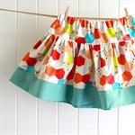twirly skirt | bright hexi print | size 3