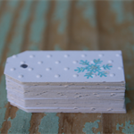 Embossed Snowflake Mini Gift Tags Parties, Weddings, Christmas