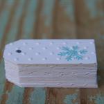 Embossed Snowflake Mini Gift Tags Parties, Weddings, Christmas