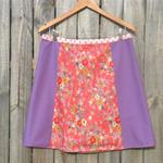Pink Japanese fabric A line panel skirt