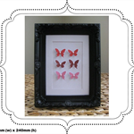 Pink mini butterfly vintage style picture