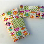 Nappy Diaper Change Mat with Nappy Wallet Cream Owls