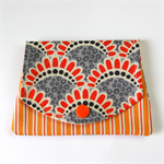 Pocket Purse - Orange & Grey Harbour Bridges with Outback Stripes