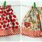 Size 3 Girl's Reversible Skirt Red Apples with Babushka