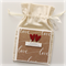 engagement card handmade kraft love with calico bag envelope