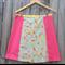 Pink & tanagram A line skirt