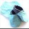 Teal Hexagon Print Bandanna Bib & Baby Shoe Gift Set