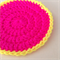 Crochet Coasters in Hot Pink and Neon Yellow - Set of 4