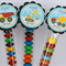 8 Pack Digger Truck Lolly Tube Birthday Party Favours #LT0001