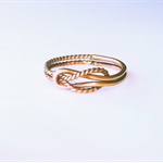 Gold promise ring, love knot ring, celtic knot ring