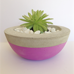 Concrete/Cement Plant Pot Handmade Homewares Decor Pastel Purple