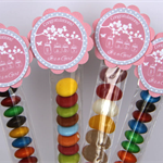 8 Pack Girl Baby Shower Lolly Tube Party Favour #LT0003