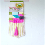 Woven Wall art - BLOOM - kids room deco, woven, tapestry