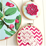 in bloom | hoop trio| hot pink blue green | room accessory