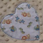 BLUE Noah's Ark baby blanket