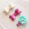 Set of 3 Baby / Girls Clip / Clips / Bows - Pink Water