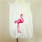 Pink Flamingo, Hand Printed Playsuit