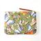 Butterflies - zipper purse pouch/ green and black purse / passport holder