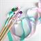Twirling ribbon wand - pastel mint green