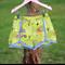 Lime Green Farm Shorts Polka Dot Lace Edge Size 4