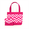 Mini Tote Bag & Purse - Hot Pink / Magenta Chevron
