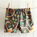 baby shorts | jungle monkey | organic cotton | size 6-12m