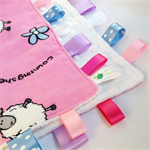 COUNTING SHEEP  - Baby Girls Security Blanket Taggie / Taggy Toy Comforter